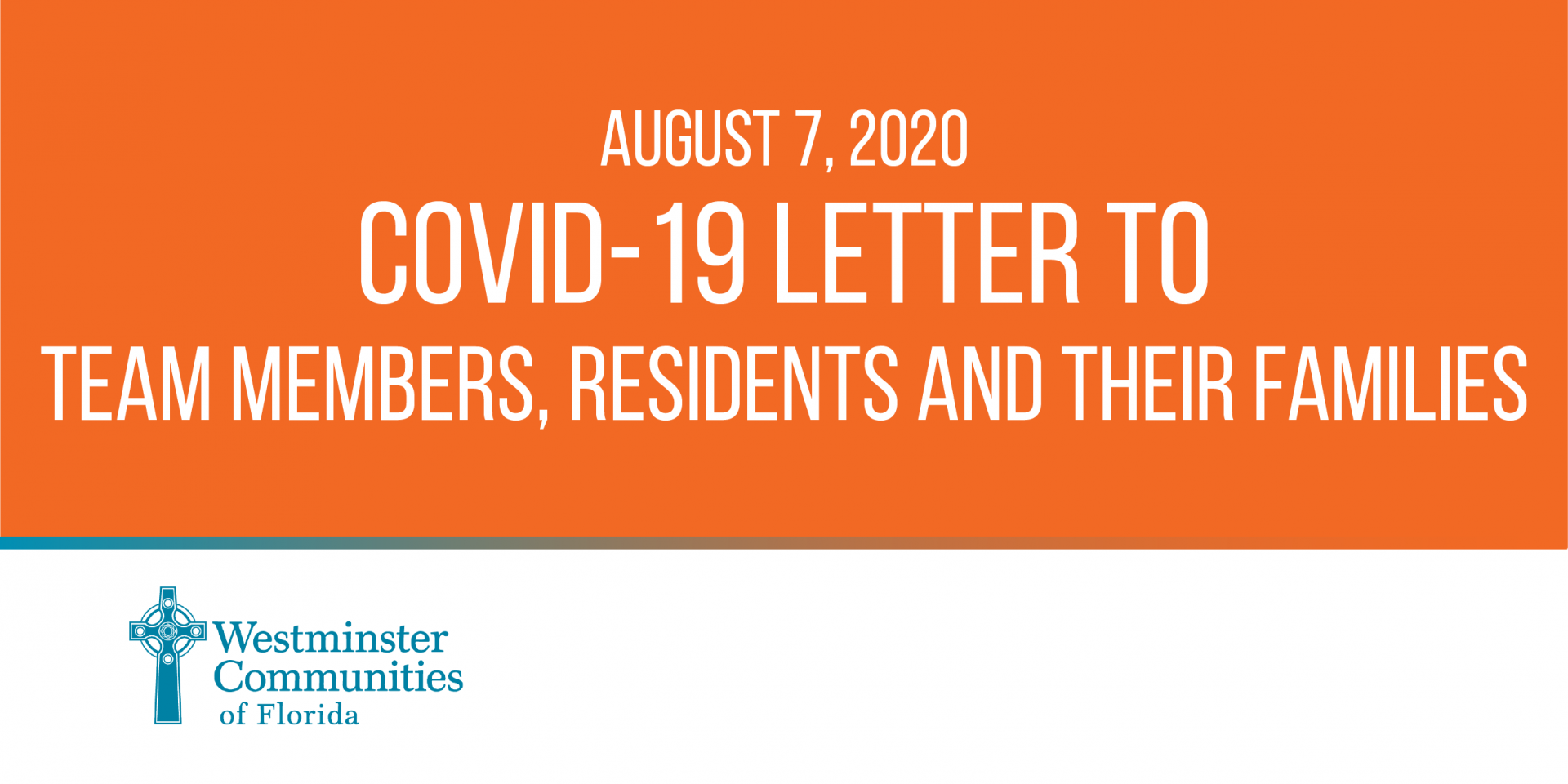 August 7, 2020 COVID-19 Letter