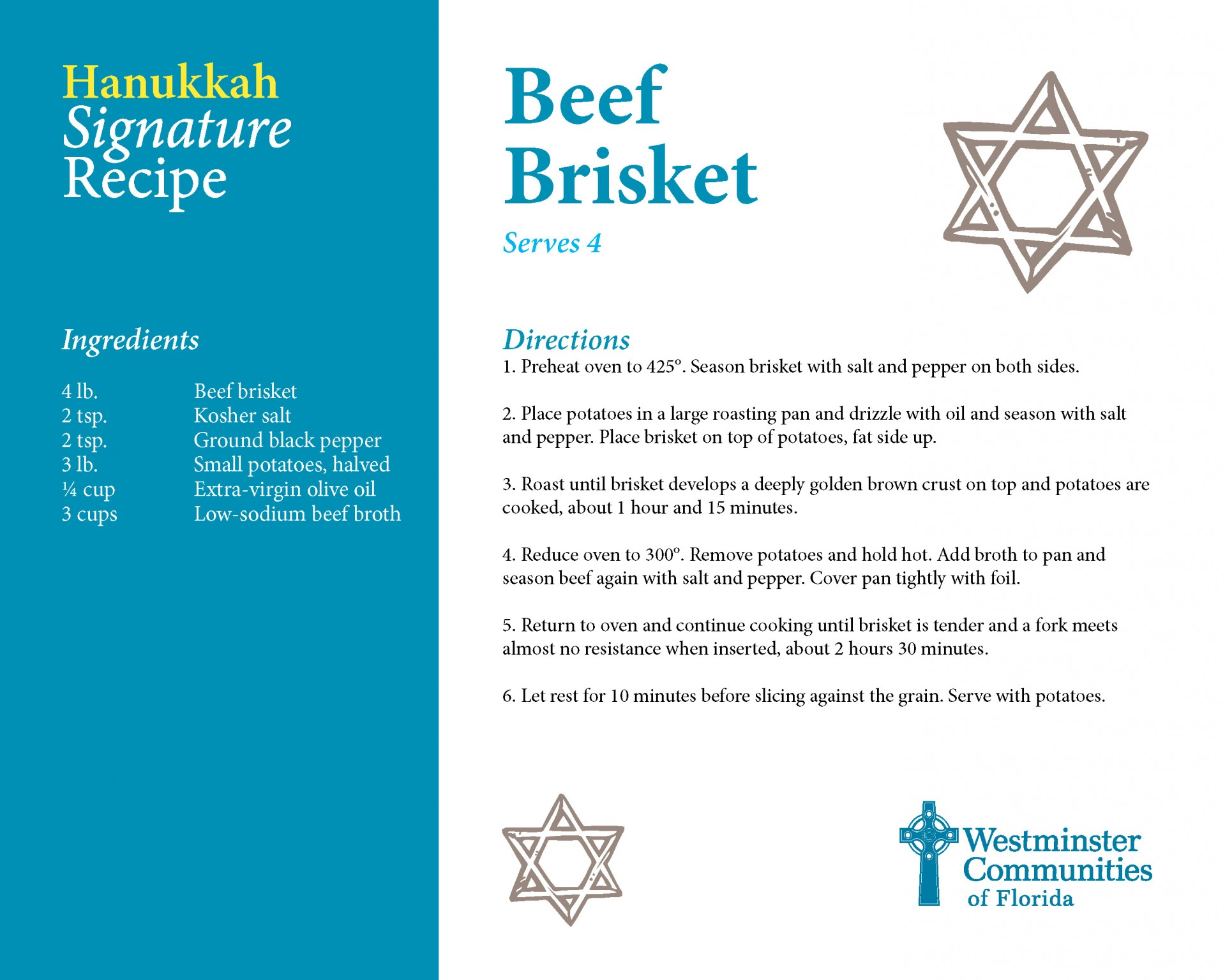 Signature Recipe for Beef Brisket