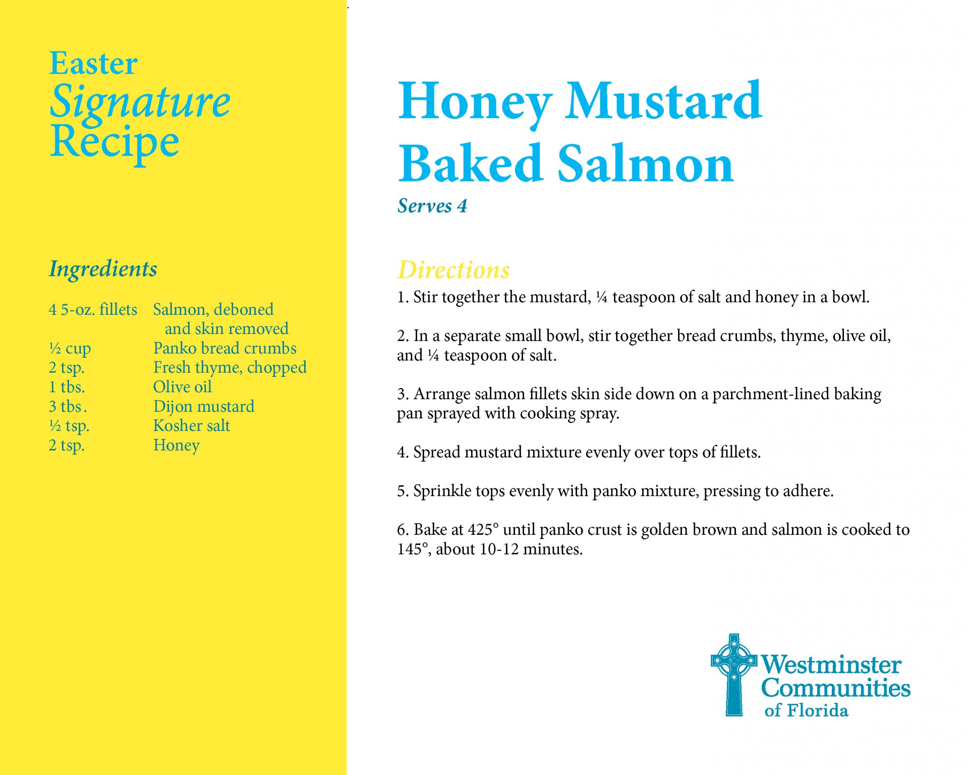 Signature Recipe for Honey Mustard Baked Salmon