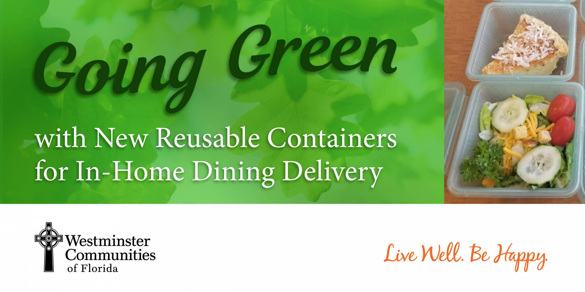 Going Green with New Reusable Containers for In-Home Dining Delivery