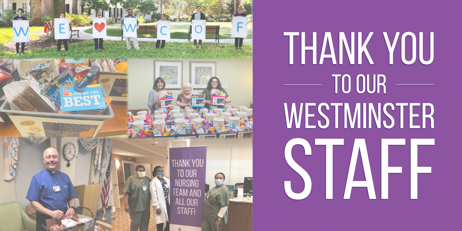 Thank You To Our Westminster Staff