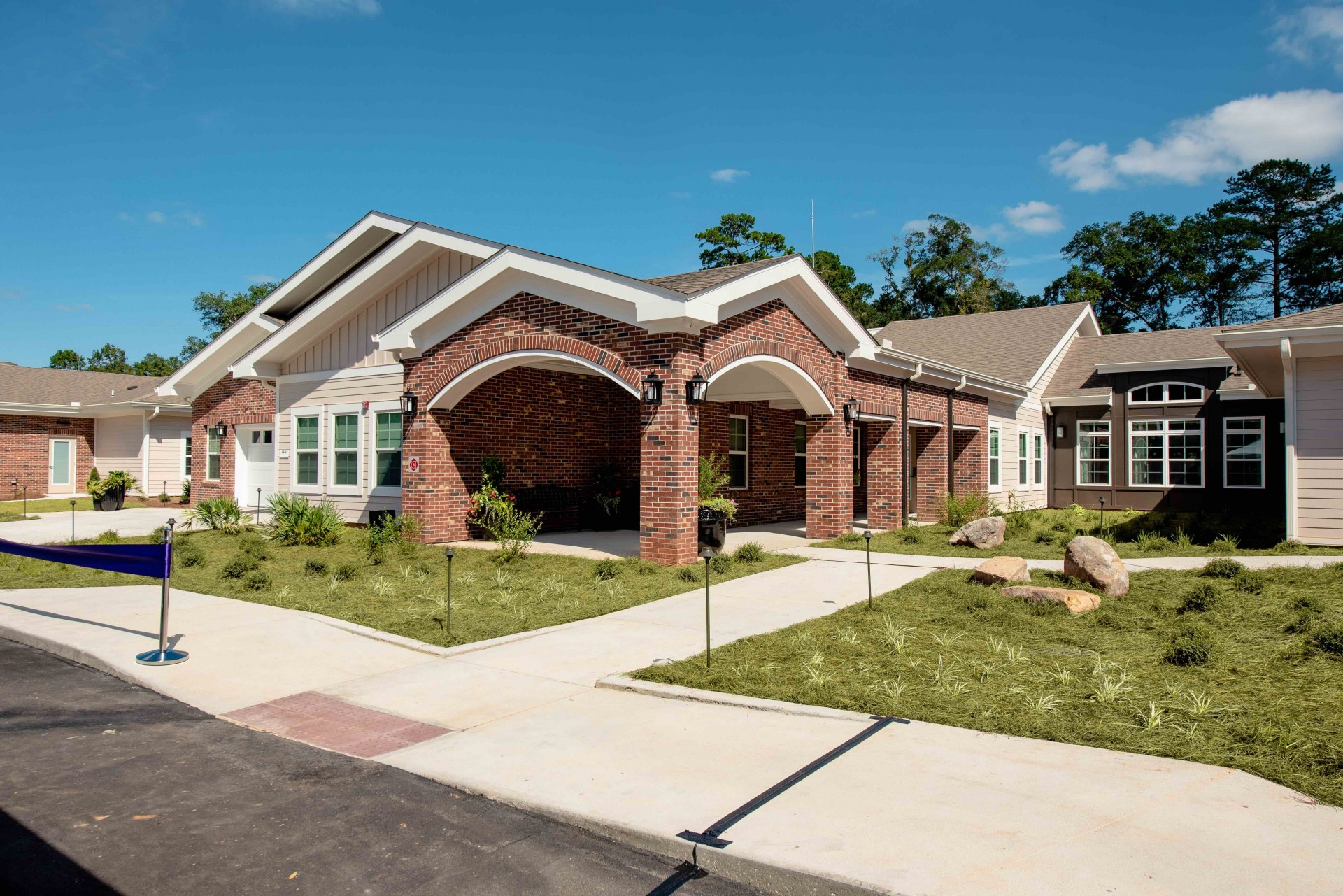 The new Memory Care building at Westminster Oaks in Tallahassee, featuring 32 new apartment residences for Memory Care Assisted Living.