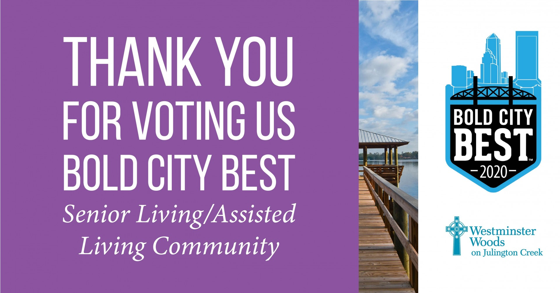 Westminster Woods on Julington Creek Named Bold City Best Senior Living/Assisted Living Community