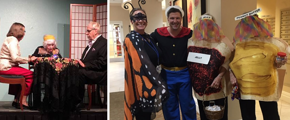 Photos showcasing The Arts at our communities in October.